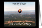 Hot Air Balloon Father's Day wishes -For my Uncle card