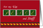 Peace - Holiday Greetings - For the Vet card