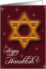 Happy Hanukkah - Star of David card