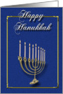 Happy Hanukkah - Menorah card