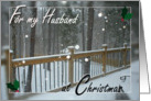 For my Husband at Christmas - Snow Day card