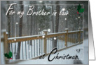 For my Brother in Law at Christmas - Snow Day card