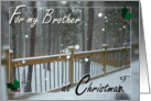 For my Brother at Christmas - Snow Day card