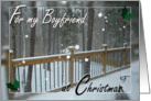 For my Boyfriend at Christmas - Snowy Day card