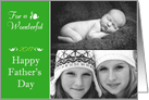 Happy Father's Day - Customizable - Photo Horizontal Card