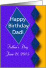 Happy Birthday - Happy Father's Day - for Dad card
