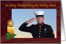 In Loving Memory military holiday season customizable card