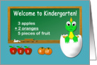 Back to school Welcome to Kindergarten card