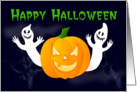 general Happy Halloween ghosts and pumpkin card