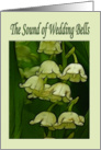Wedding Bells Lily of the Valley flower announcement of marriage card
