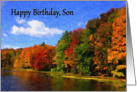 Happy Birthday, Son autumn scene card