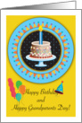Happy Birthday on Grandparents Day, Cake card