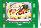Happy 2nd Birthday on Christmas, Personalized card