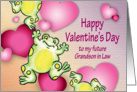 Valentines Day, Grandson in Law to be, frogs card