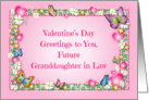 Valentine's Day, future granddaughter in law, butterflies card