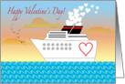 Valentine's Day, cruise ship theme, hearts card