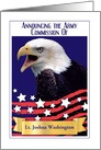 Custom Army Commission Announcement, Bald Eagle card