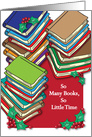 Christmas / To Book Lover, Bibliophilia card