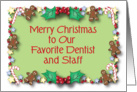 Christmas / To Dentist and Staff card