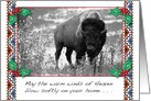Native American Christmas Card, Buffalo card