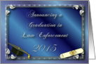 Announcement, Law Enforcement 2013 graduation card