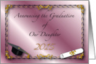 Announcement, Graduation of Daughter, 2013 card