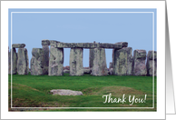 Thank you, to World History Teacher, Stonehenge card
