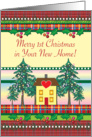 Merry 1st Christmas in New Home card