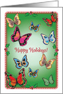 Christmas, Butterfly Theme card