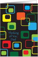 Thinking of Estranged Dad/Father, abstract card