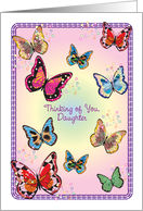 Thinking of You, to Estranged Daughter, butterflies card