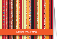 Missing You, to Estranged Father card