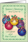 Season's Greetings to Daughter & Fiance card