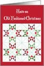 Christmas / Old Fashioned Primative Folk Art Quilt card