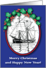 Christmas / Nautical/Maritime, sailing ship card