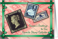 Christmas / For a Stamp Collector card