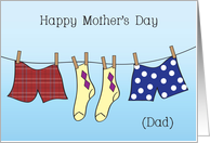 Mother's Day / To Dad, Only Parent card