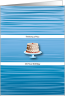 Birthdays / To Estranged Father, cake card