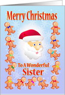 Merry Christmas To A wonderful Sister card
