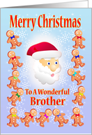 Merry Christmas To A wonderful Brother card