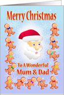 Merry Christmas To A wonderful Mum & Dad card