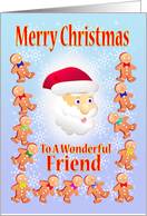 Merry Christmas To A wonderful Friend card