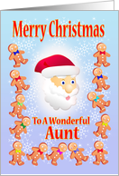 Merry Christmas To A wonderful Aunt card