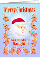 Merry Christmas To A wonderful Daughter card