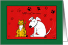 Christmas from Dog and Cat, Paw Prints card