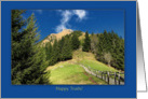 Hiking Wedding Congratulations Hiking Trail Mountain Top card
