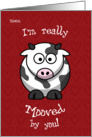 Valentine's Day Cow Moo Humorous for Niece card