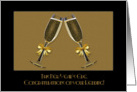New Year's Eve Wedding Congratulations with Champagne Glasses card