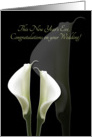 New Year's Eve Wedding Congratulations with Calla Lilies card