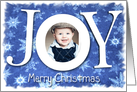 Christmas Joy with Snow, Photo Card